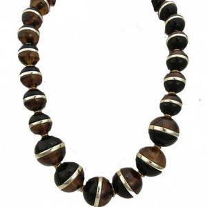 Coldwater Creek Amber Black Necklace NWT